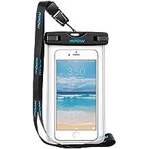 Mpow Wasserdichte Hülle Beutel Tasche,wasserfeste handyhuelle,Handyhülle,Staubdichte Schützhülle für iPhone 6/6s/6splus/5/5c/5s/Galaxy S7/S7edge/S6/S6 edge/S5,Huawei P8 usw bis zu 6 Zoll