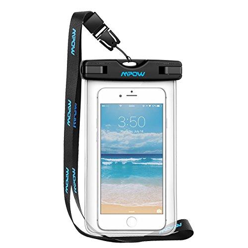 Wasserdichte Handyhülle,Mpow Wasserdichte Hülle Beutel Tasche,wasserfeste handyhuelle,Staubdichte Schützhülle für iPhone 7/6/6s/6splus/5/5c/5s/Galaxy S7/S7edge/S6/S6 edge/S5,Huawei P8/P9, usw bis zu 6 Zoll (6-zoll-kamera-tasche)