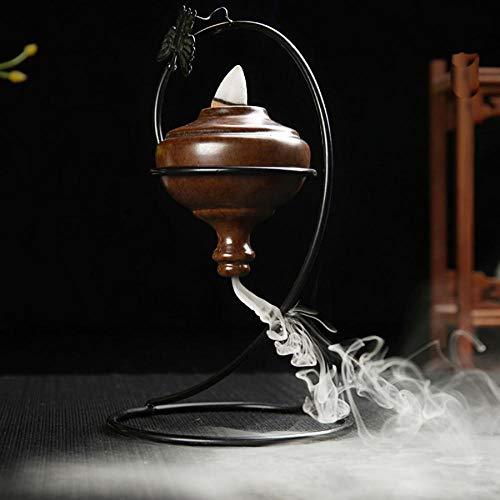 Quemador de incienso, soporte de incienso de cerámica, quemador de incienso, soporte de incienso de...