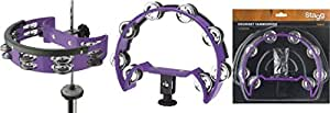 Stagg TAB-D PP Tambourin pour Hi-Hat 16 cloches violet