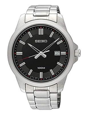 Seiko Reloj Analógico para Hombre de Cuarzo con Correa en Acero Inoxidable SUR245P1