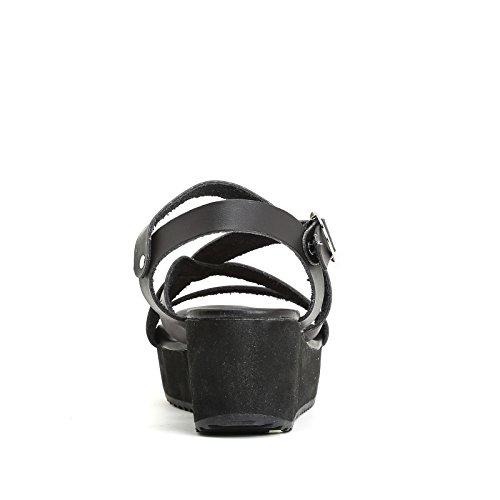 PRENDIMI by Scarpe&Scarpe - Semelles compensées avec lanières croisées Noir