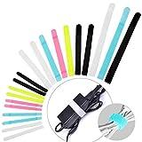 Avantree 50 Attaches de Câbles Design Spécial | Sangles réutilisables à Crochet et Boucle | 3 Tailles Différentes pour Organiser Vos Câbles