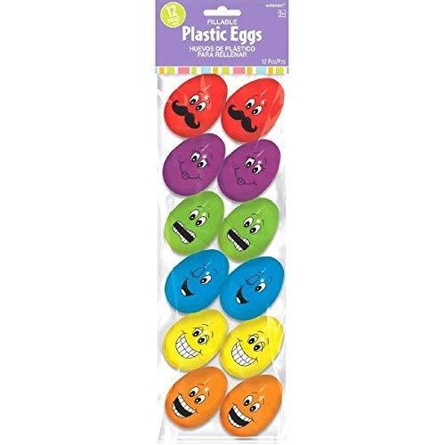 Gesichter Kunststoff nachfüllbar Eier ()