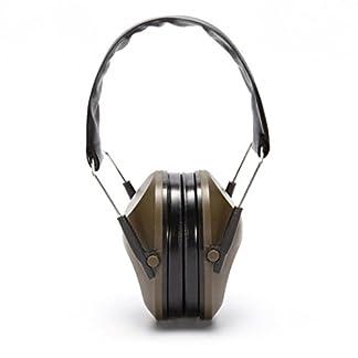 Protectores auditivos Protector auditivo, fundido Power Táctica aislamiento acústico Ear Protection Compact plegable y auriculares cómodos Protección, cinta Cápsula orejeras ajustables