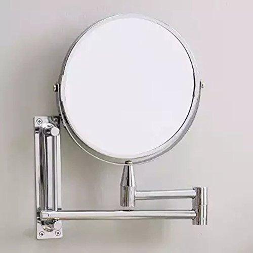 Badezimmer Wand Spiegel Doppel Doppelseitige Kosmetische Spiegel WC Teleskop Faltung Spiegel Drehen Spiegel Wasserdichte Anti Fog 3 X Zoom in (Anti-fog-rasierspiegel)