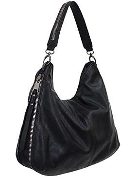 Eternel (Farbauswahl) Damen Handtasche PU-LEDER Beuteltasche Tasche