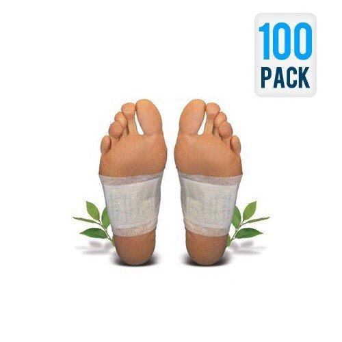 100 Stück Vitalpflaster / Fusspflaster / foot patches für die Körperentschlackung (Fuß-pad, Die Giftstoffe Entfernen)
