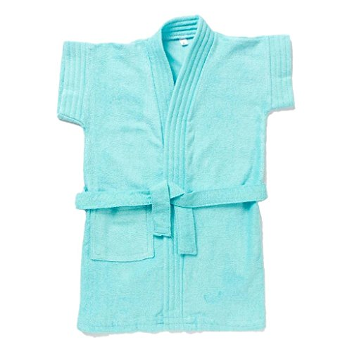 EIO® Soft Baby Boys Girls Dressing Gown Bath Robe (Turquoise, 1-2 Years)