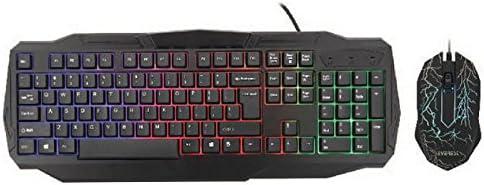Everest Kmx-86 Olivine Usb Gökkuşağı Zemin Aydınlatmalı Us Layout Standart Klavye + Mouseset (Türkçe Klavye), Siyah