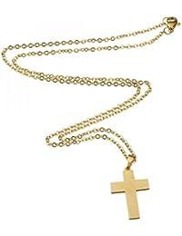 Tradico® Fashion Women Cross Pendant Necklace & Earrings Stainless Steel Jewelry Set Gift