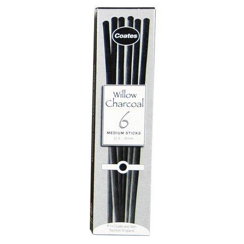 PH Coates Coates 6 Medium Willow Charcoal Sticks
