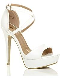 STELLA LUNA Sandaletto con tacco alto multicolore stile festa Donna Taglia IT 38