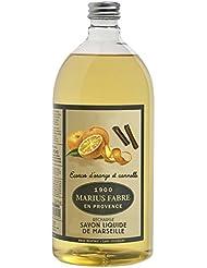 Marius Fabre savon de marseille Ecorces d'orange et cannelle 1 litre
