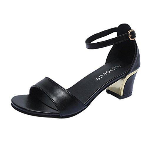 squarex Sommer Frauen Schuhe Spitz Zulaufender Zehenbereich Pumpen Schuhe High Heels Boot Schuhe Hochzeit Schuhe Adult 5 UK/ Foot Length:24.5-25cm schwarz
