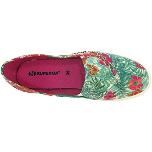 Superga 2210 FABRICFANPLW, Sneakers basses mixte adulte vert/fuchsia (green/fuxia)