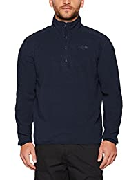 The North Face M 100 Glacier 1/4 Zip Forro polar, Hombre, Azul (Urban Navy/Urban Navy), S