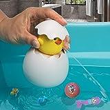 MIKAFEN Baby Badespielzeug schwimmende Ente Ei Wasserspray Spielzeug für Baby,...