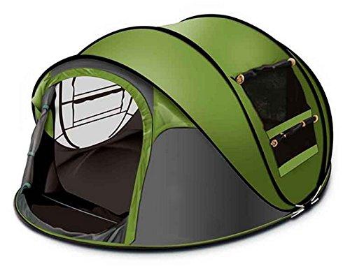Ghlee Familie 3-4 Personen Automatisches Werfen Pop Up Großes Zelt Sekunden Offenes Zelt 290 x 200 x 130CM (L x B x H)