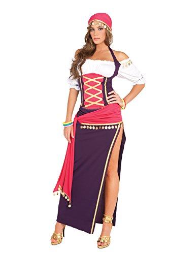 Elegant Moments Damen Gypsy Maiden - Mehrfarbig - Large (Schuhe Halloween Kostüm Gypsy)