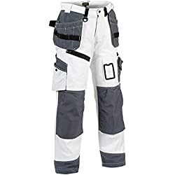 Blakläder 151012101094C42 X1500 Pantalon Peintre Taille C42 Blanc/Gris