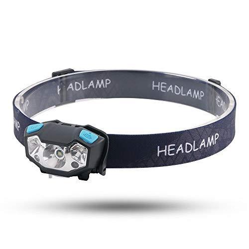 RMXMY LED éblouissement Longue portée Induction Sports de Plein air Camping Nuit équitation USB Rechargeable Phare de Travail lumière phares Multifonctions