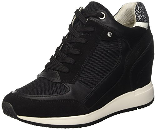 Geox Damen D Nydame A High-Top, Schwarz (blackc9999), 40 EU