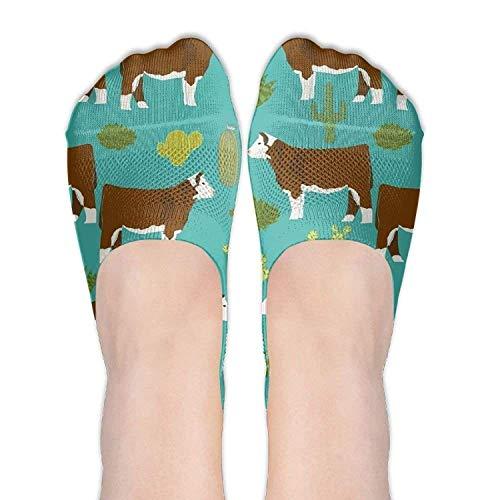 Bag shrots Women Hereford Cow Cotton Thin Hidden No Show Casual Liner Athletic Running Socks Non Slip Flat Boat Line Alpinestars Slip