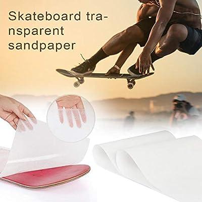 flyingx Schleifpapier, Schleifpapier Longboard Clear Longboard Skate Scooter Schleifpapier Sticker Skateboard Verdicktes Skate Band Skate 126 27cm Schleifpapier Sliding Skateboard