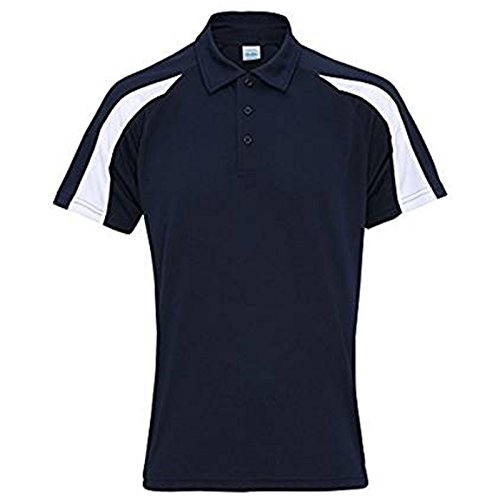 AWDis Herren Modern T-Shirt French Navy/ Arctic White