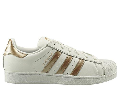 Adidas Sneaker Damen SUPERSTAR W CG5463 Weiß Gold