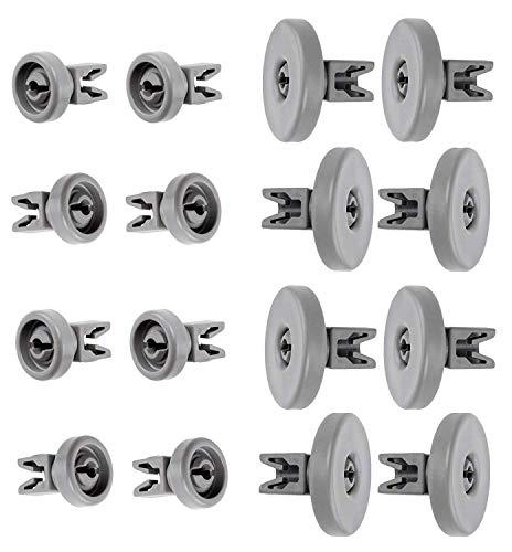 Kit ruote lavastoviglie rex electrolux techna zanussi aeg favorit juno privileg fortschritt quelle, 16 ruote cestello inferiore superiore - adatto figevida