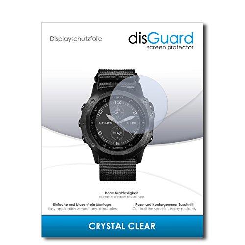 disGuard® Bildschirmschutzfolie [Crystal Clear] kompatibel mit Garmin tactix Bravo [3 Stück] Kristallklar, Transparent, Unsichtbar, Extrem Kratzfest, Anti-Fingerabdruck - Panzerglas Folie, Schutzfolie
