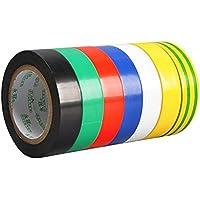 Cinta adhesiva aislante (7 unidades), fuente eléctrica, potente cinta adhesiva aislante de PVC de baja resistencia a la temperatura, cinta adhesiva