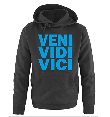Comedy-Shirts -  Felpa con cappuccio  - Maniche lunghe  - Uomo Nero/Blu