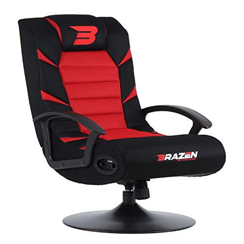 BraZen BRAZEN-PRIDE-18063 Pride 2.1 Bluetooth Surround Sound Gaming-Stuhl, Rot (Bluetooth-stuhl)