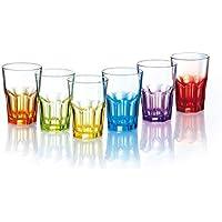 Luminarc Crazy Colors – Juego de Copas de Agua 6 Unidades Vasos, Vasos Cristal 400
