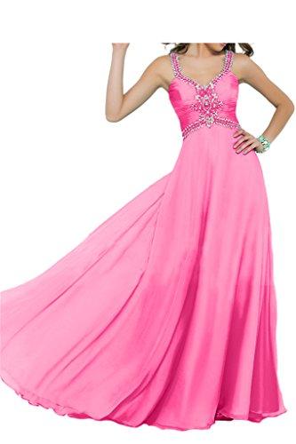 Victory Bridal Herrlich 2015 Neu Damen Tanzenkleider Steine Partykleider Promkleider Abendkleider Dunkel Rosa