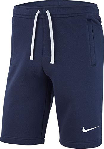 Herren-dri-fit-trainings-shorts (Nike Herren M FLC TM CLUB19 Sport Shorts, Obsidian/White, L)