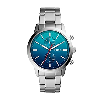 Fossil Reloj Cronógrafo para Hombre de Cuarzo con Correa en Acero Inoxidable FS5434