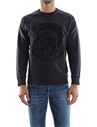 Diesel 00sqyt, Sweatshit à Capuche Sportswear Homme, Noir