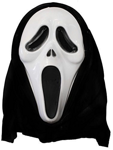 Schwarz Weiß Und Tv Show Kostüm - ILOVEFANCYDRESS Geister Horror Maske SUPER FÜR Halloween UND Fasching UND Karneval ERHALTBAR IN 5 VERSCHIEDENEN STÜCKZAHLEN = SUPER FÜR Gruppen VERKLEIDUNGEN=2 Masken