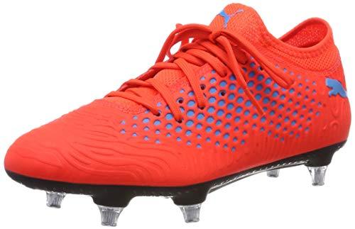 Puma Herren Future 19.4 SG Fußballschuhe, Rot (Red Blast-Bleu Azur), 44.5 EU (Puma Fußballschuh Sg)