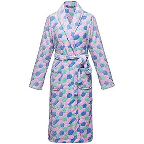 DMMSS Inverno Coral Fleece accappatoio camicia da notte pigiama ispessita Lady Accappatoio