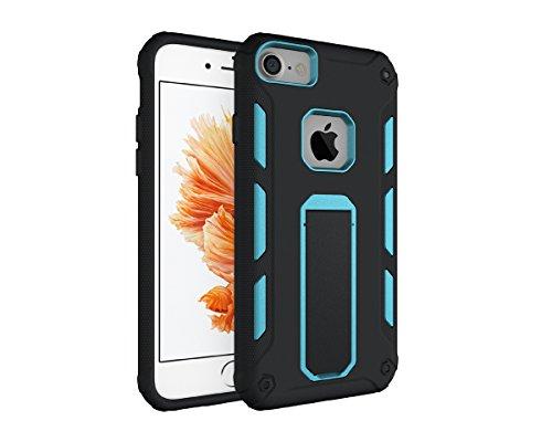 iPhone 7/iPhone 8 Caso,PC/TPU Shockproof Hybrid Combo custodia Design moda caso astuto Case con Stare per iPhone 7/iPhone 8 4.7 pollici Caso (Nero) Cielo-blu