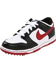 Nike - Zapatos de golf para niño Weiß-Schwarz-Rot