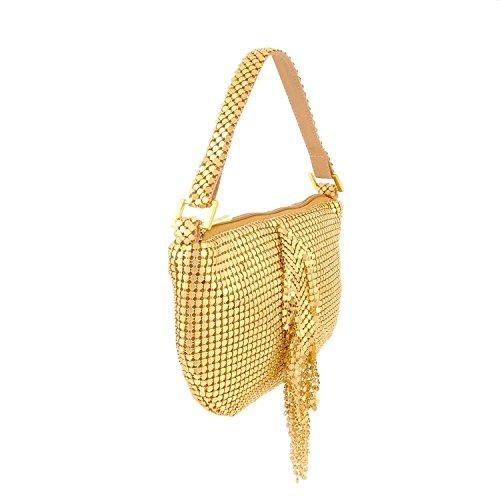 Piccola borsa a rete Oro