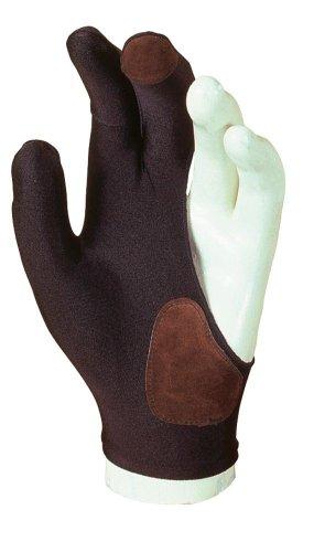 Billardhandschuh Laperti mit Leder, zwei Größen, Größe:L - large