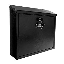 Savisto Slim-Line Wall Mounted Lockable Waterproof Mailbox
