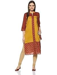 Amazon Brand- Myx Women's Cotton Straight Kurta
